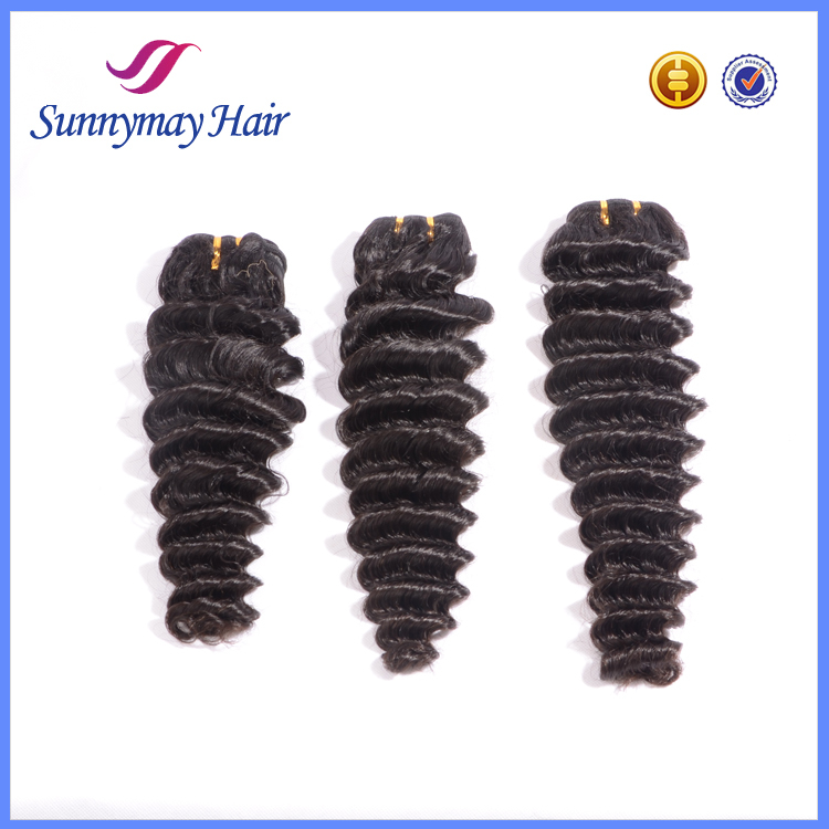 Qingdao Factory Price Wholesale Brazilian Virgin Human Hair Weave, Deep Wave Human Hair Weaving