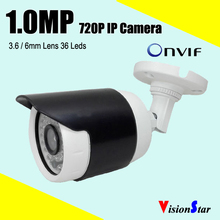 Cheap Price Small Cute Bullet IP camera 1.0mp 3.6mm Lens For Outdoor Surveillance System