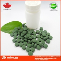 Spirulina powder 500mg tablets blood health supplement