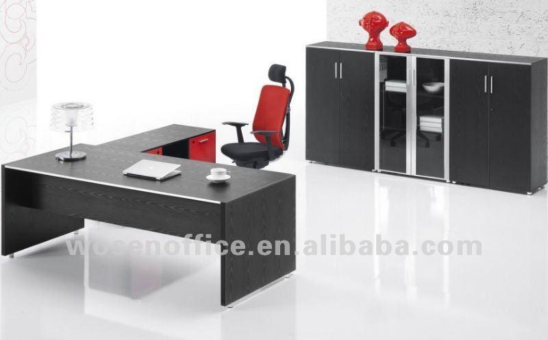 Moderno escritorio de oficina de melamina mesas de madera for Follando en mi oficina