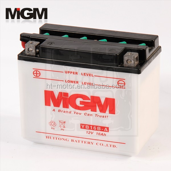 YB16B-A Motorcycle Battery,voltage on car battery