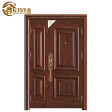 SGS Certificate nigeria security used metal arch top 2 panel steel door