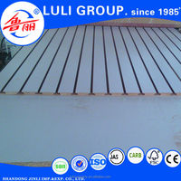melamine mdf slotted board for supermarket rack