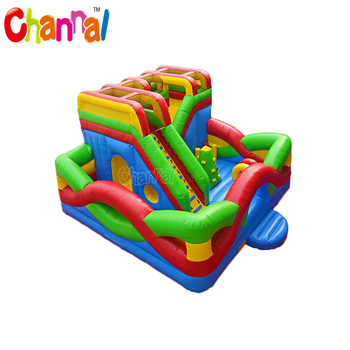 Inflatable Interactive Playground For Kids Inflatable Obstacle Course
