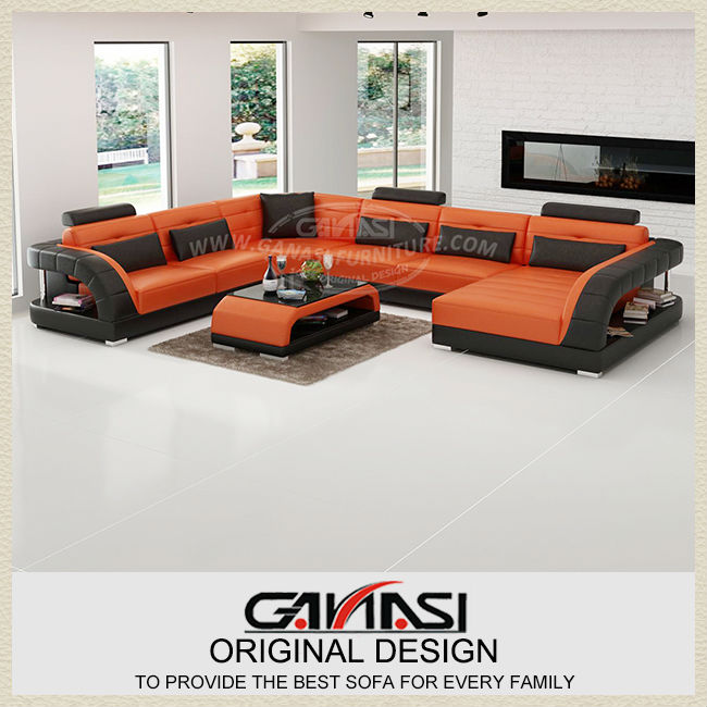 GANASI best selling best quality italy leather sofa