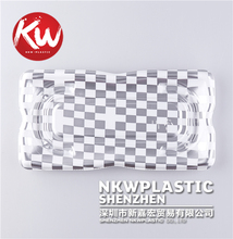 Disposable plastic compartment food tray frozen tray