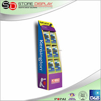 Cardboard advertising floor display stand for mp3 or electronic products, accessories display stand, bookshop display stand