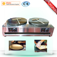 2017 hot selling two heads pancake maker double crepe maker(ZQW-2E)