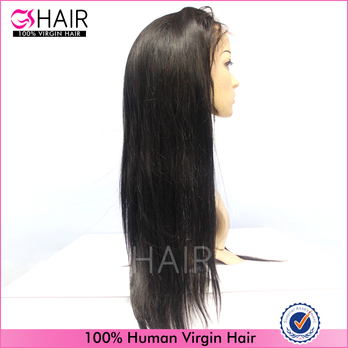African american straight human hair full lace wig products imported from china