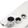 2016 New Arrivals 3 in1 Quick Camera Lens 180Fish Eye & Wide Angle & Macro Lens for Smartphone