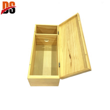 High grade mens unfinished wooden wine box purse
