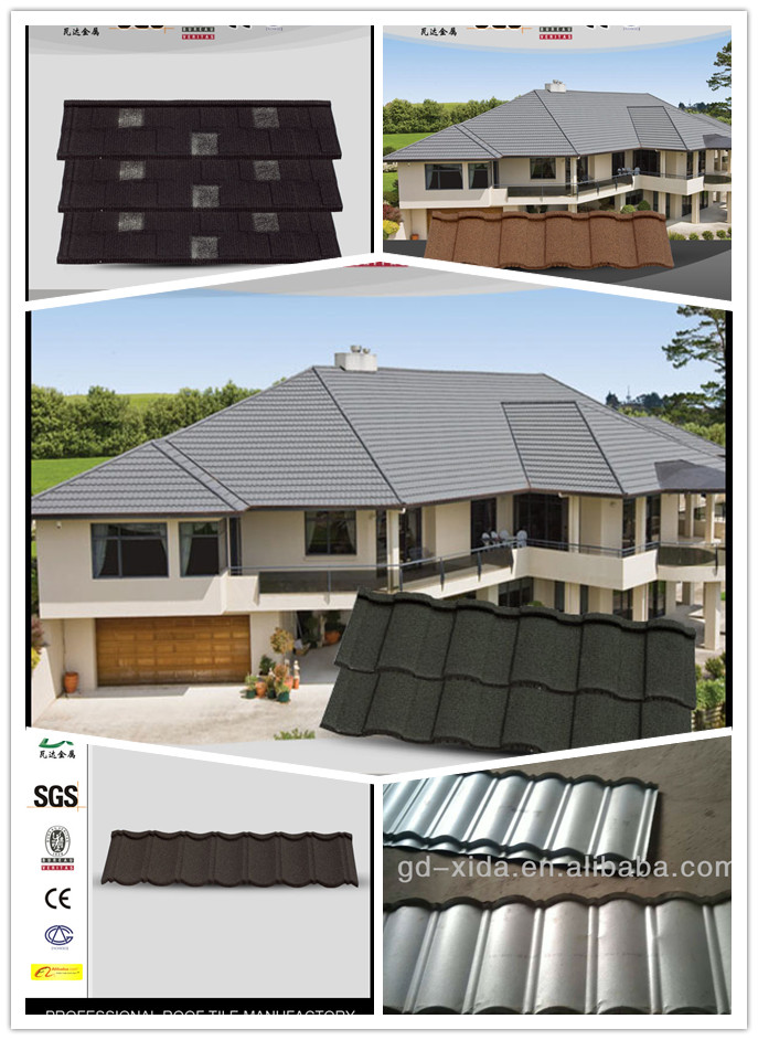 Stone coated shingle asphalt,metal building material roof tile