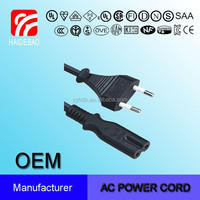 European Two Wire Extension Cord POWER CORD