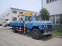 Dongfeng convex head 140 4*2 hydraulic pickup truck crane