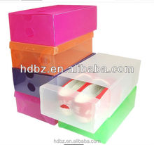 customized design clear pvc baby shoe box packaging