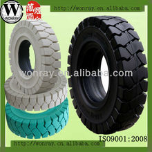 7.50-16 white forklift non marking solid tire, solid bicycle tires, good price