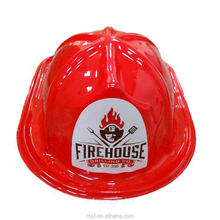 New 2017 products wholesale plastic fire hat funny custom logo PVC fireman hat for party MCH-2451