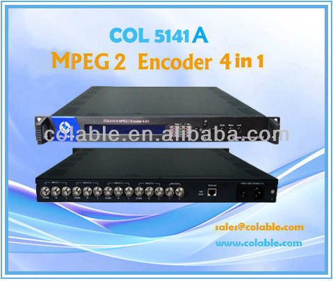 Mpeg 2 encoder/4 channel Digital audio vedio encoder/ broadcast encoder(COL5141B)