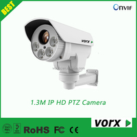 1.3 megapixel 10X zoom 80m IR bullet PTZ ip hd outdoor secuirity cctv network camera