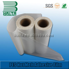 Good Washing Resistance PES Hot Melt Adhesives Film Stick With Sequin Garment