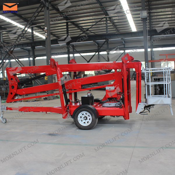 Construction Boom Lift Hydraulic : Towable boom lift for sale hydraulic arm platform