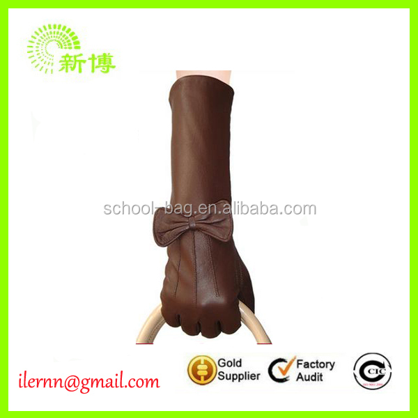 Specialized manufacturer unlined long leather gloves for women