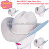 Manufacture white ladies floppy cowboy hat for wholesale as leather
