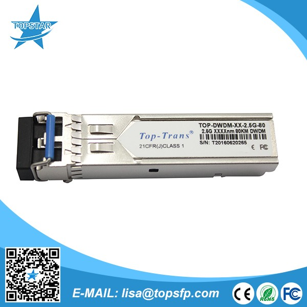 Optical receiver 10G Tunable DWDM SFP+ 80km 50GHz Transceiver with DOM fiber optic module