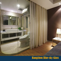 tempered glass living room glass partition toughened glass