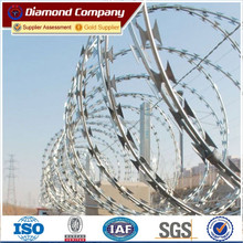 hot sale BTO-22/500MM Galvanized Flat Wrap Razor Wire /ISO factory supplys cheap high quality concertina razor wire