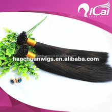 AAAAA grade wholesale price Italy glue any color double drawn silky straight U tip pre-bonded hair 100% human extensions