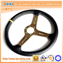 100% Leather 15 inch Racing Steering Wheel for SALE