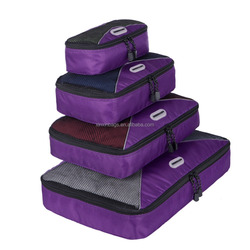 4 Pieces Rip-stop Travel Packing Cubes For Carry-on Luggage Accesories