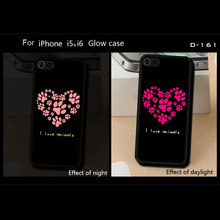 Wholesale love heart pattern design TPU gel case for iPhone 4 5 6 6plus