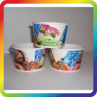 custom printed food containers 250cc ice cream bowl wallpaper cup china supplier