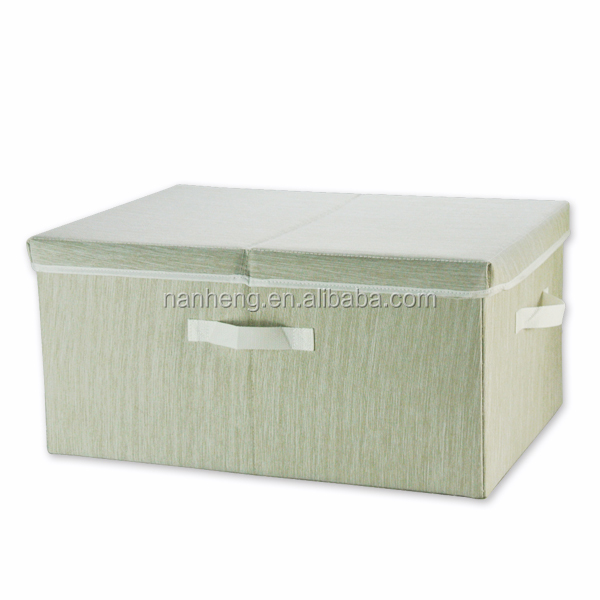 NAHAM foldable multipurpose non woven collapsible fabric storage box