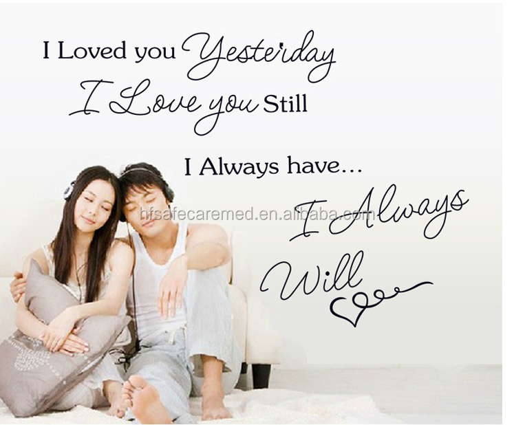 Happy Fashion decor vinyl wall stickers words, enjoying love
