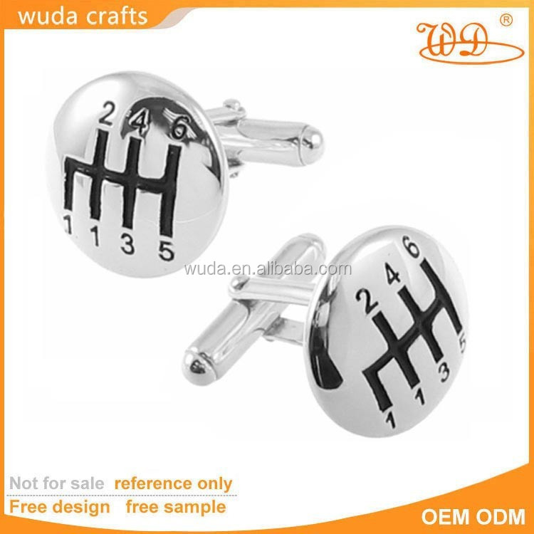 china wholesale sterling silver brass speed gear shift jewelry cufflinks