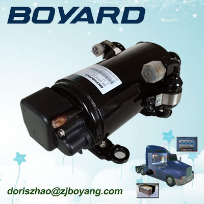 zhejiang boyard <strong>r134a</strong> 12V <strong>24V</strong> dc air conditioner <strong>compressor</strong> HB075Z12 3000btu for 12 voltage mini air conditioner for cars