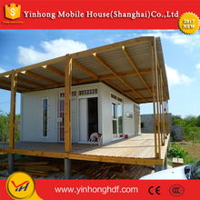 Economical environmental friendly light steel structure frame movable deck house community for hotel, office, dormitory, worksho