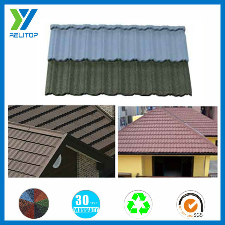 Sand granule coated excellent impact resistance metal roof tile