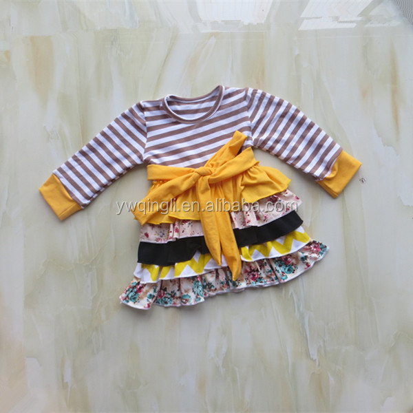 2015 fashion baby girl boutique clothing set girls fashion design top with ruffle skirts and leggings girls persnickety cloths