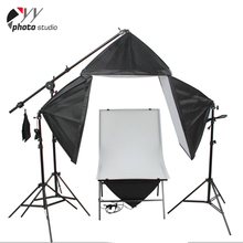 Photographic shooting table soft boxes continuous studio light kit