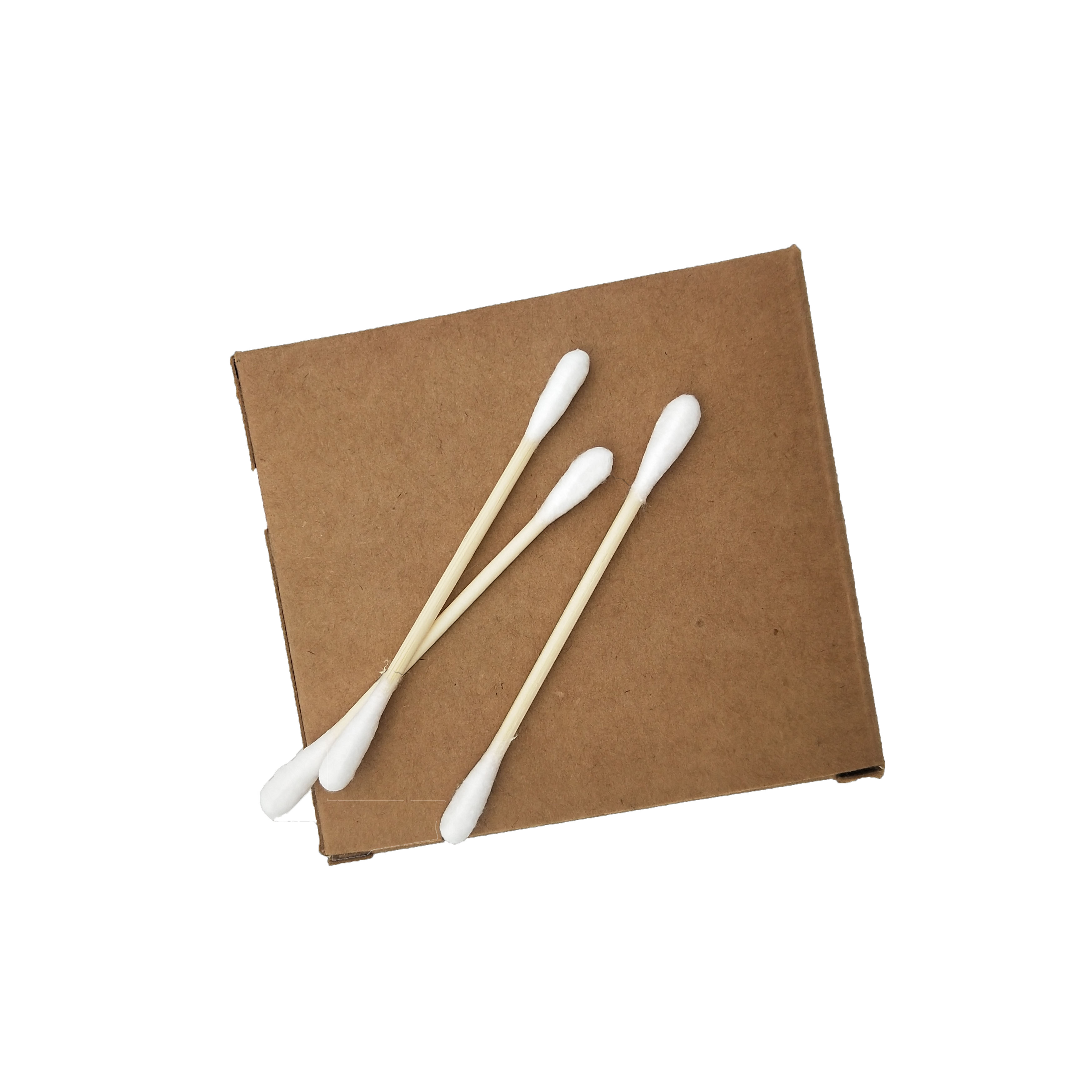 Eco friendly medical bamboo  stick cotton swab set