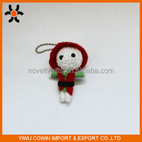 string red cap dolls cute voodoo doll keychain