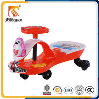 Cartoon design children plastic swing car scooter kids ride on car
