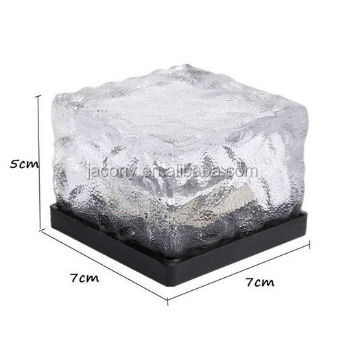 Led solar ice brick light (JL-5517)