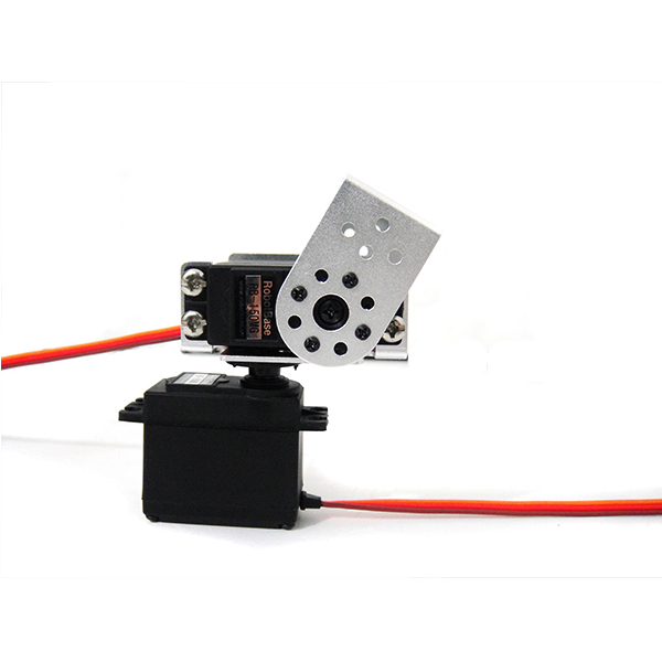 2 DOF RB-150MG Pan and Tilt Kit with Aluminium Short U Servo Bracket (silver)