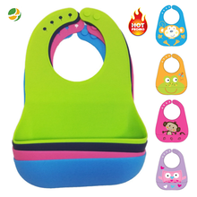 Custom Wholesale Blank Infant Teething Waterproof Drool Silicone Baby Bib Manufacturer For Feeding BB02