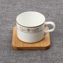 handmade wooden custom promotional square table plate coaster, bamboo coaster with holder, wood coaster holder